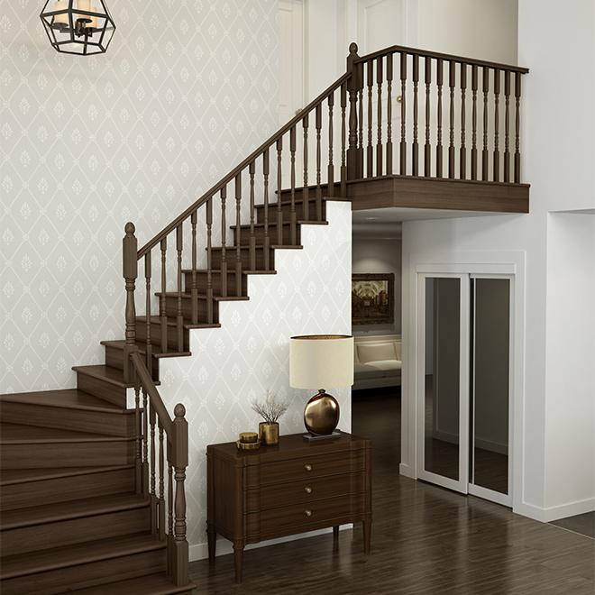 Oak Handrail with Fillet - 10' - Natural
