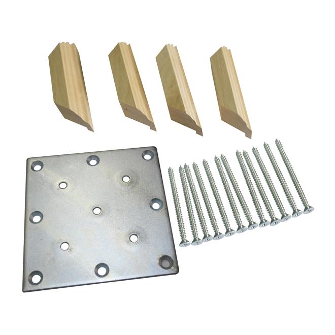Newel Fastener and Trim Kit - Maple