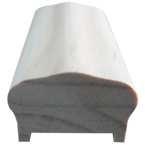 Main courante en pin avec listel, 10', bois naturel