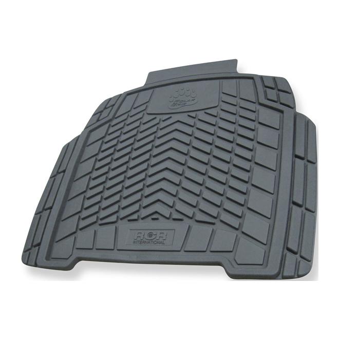 "Car Floor Mat - Rear - 19 3/4"" x 18 1/2"" - Grey"