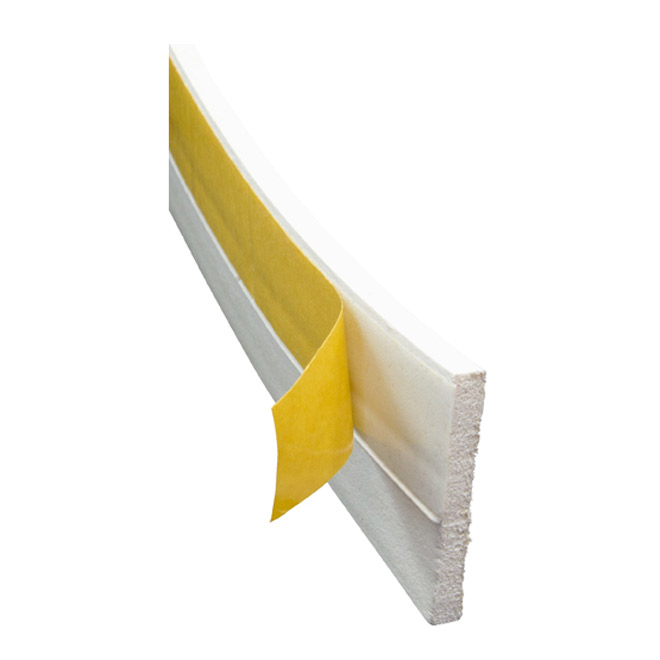 Self-Adhesive EPDM Door Sweep - White