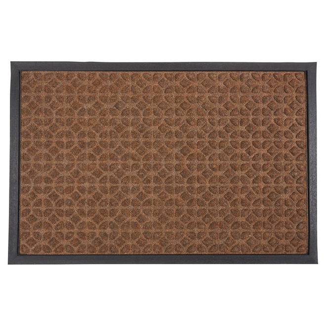 Outdoor Mat with Natural Rubber - Brown