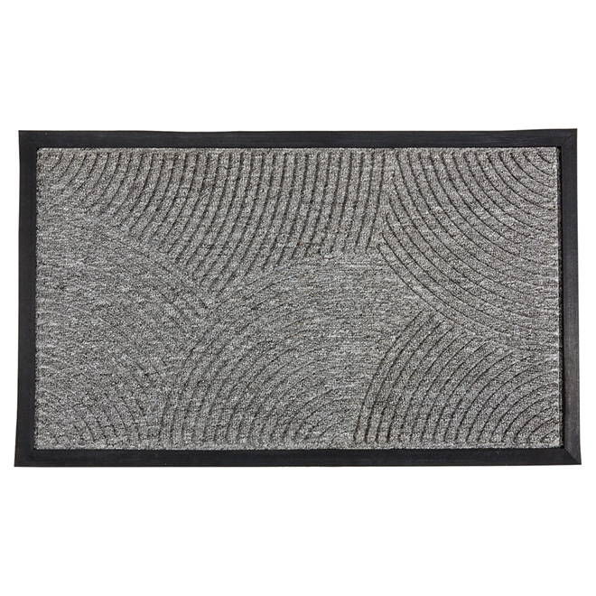 Outdoor Mat with Natural Rubber - Grey