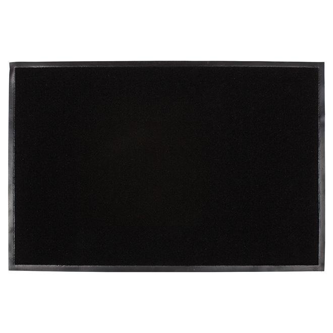 tapis puma en polypropyl ne int rieur ext rieur noir. Black Bedroom Furniture Sets. Home Design Ideas