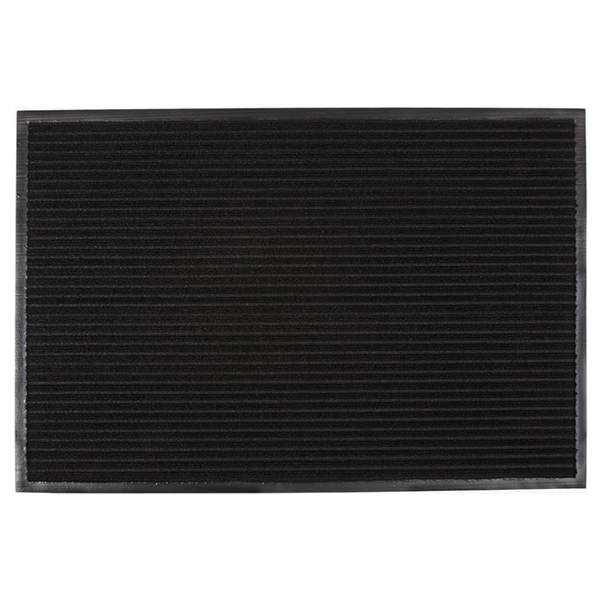 High Grooves Polypropylene Mat - Black