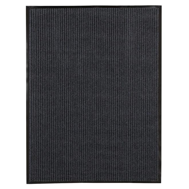 High Grooves Polypropylene Mat - Dark Grey