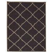 Tapis décoratif en nylon, gris foncé