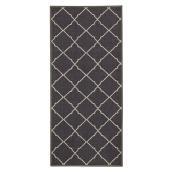 Tapis décoratif en nylon gris foncé