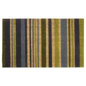 Carpette coco « Cordial », 18 pi x 30 pi, lime et gris