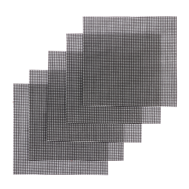 """Paquet de 5pièces de moustiquaire, 3"""" x 3"""", noir"""