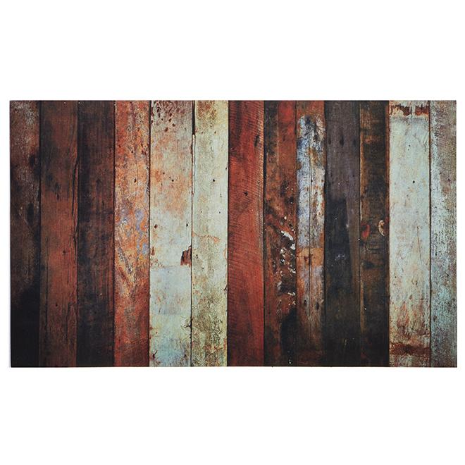Carpette décorative, planche de bois, brun, 18'' x 30''