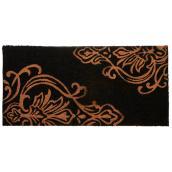Carpette avec motif Damask, 20'' x 42'', noir