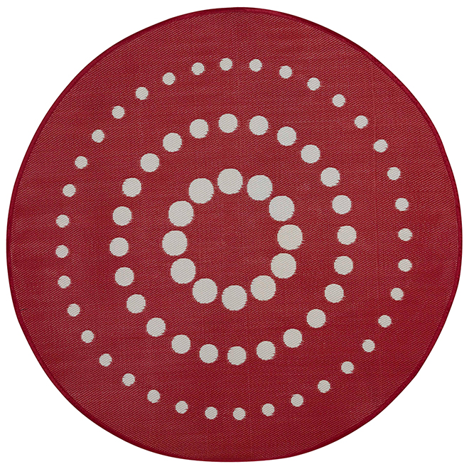tapis d 39 ext rieur rond r versible dune 7 39 rouge rona. Black Bedroom Furniture Sets. Home Design Ideas