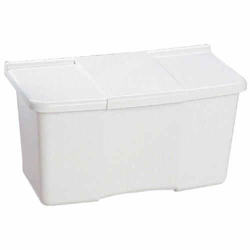 Ben-Mor Clothespin Box - White - Plastic - 5 3/4-in x 5 1/2-in x 10 1/2-in
