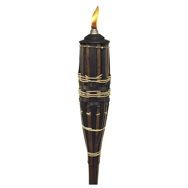 Torche de 60 po « Royal Rivier » en métal et bambou