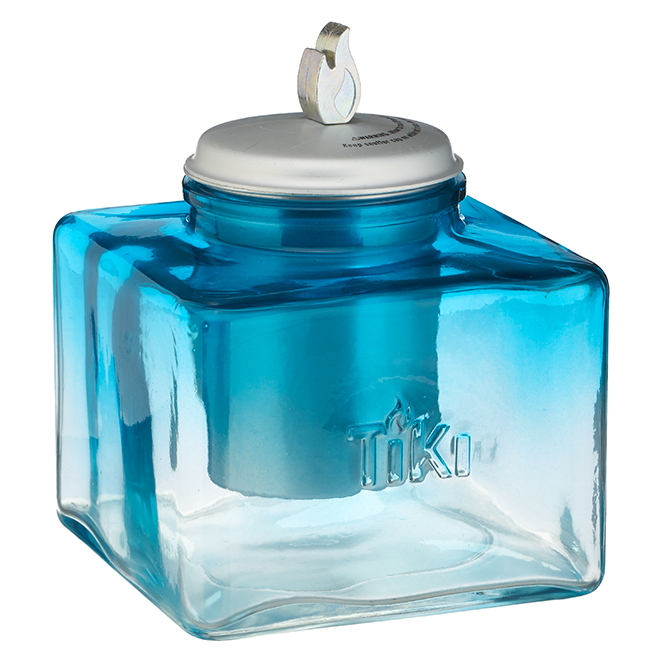 Torche de table Ombre Ice, verre, bleu