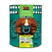 Table Torch - Ornate Metal - Teal