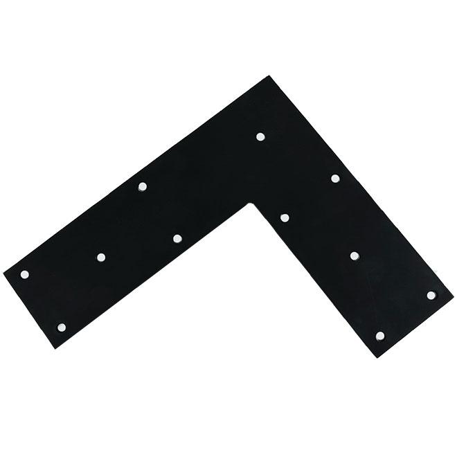 """Flat Angle - Steel - 14"""" x 12"""" x 4"""" - Black"""