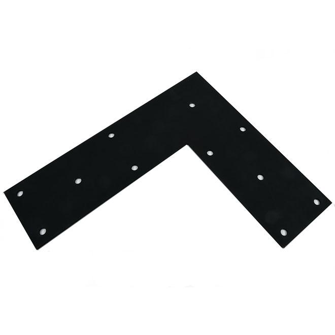 """Flat Angle - Steel - 18"""" x 21"""" x 6"""" - Black"""