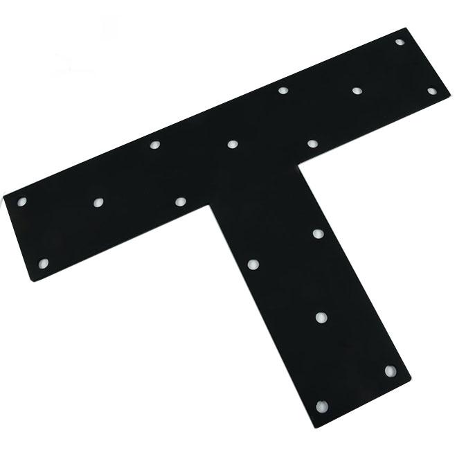 """Équerre plate en acier, 24"""" x 16"""" x 5"""", noir"""