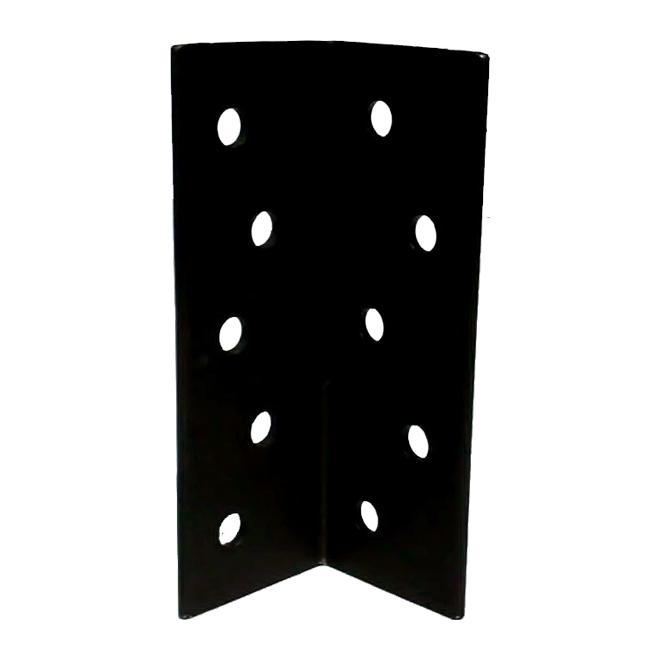 "Steel Angle - 10 7/8"" x 4"" x 1/4"" - 11/16"" Holes"