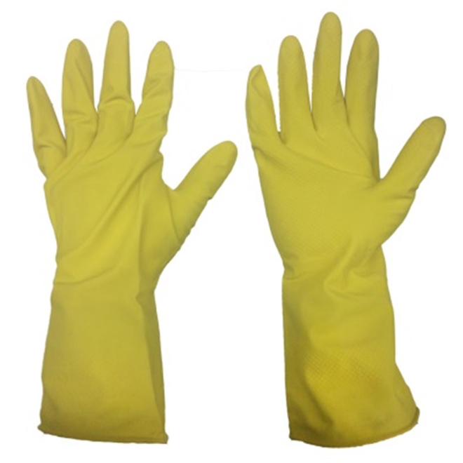 Gants de travail en latex pour homme, G-TG, jaune