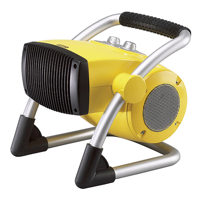 "Pivoting Utility Heater - 900-1500 W - 12"" - Yellow"