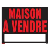 "Sign - ""Maison à vendre"" - Black and Red"