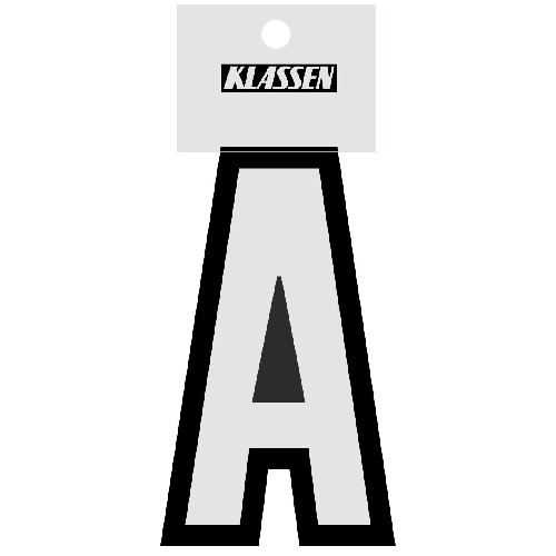 """Reflective Letter - Vinyl - A - 3"""" - Black and Silver"""