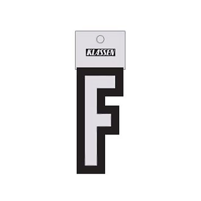 """Reflective Letter - Vinyl - F - 3"""" - Black and Silver"""