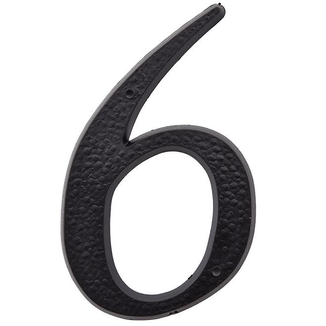 "Plastic Number - #6 - 5"" - Black"