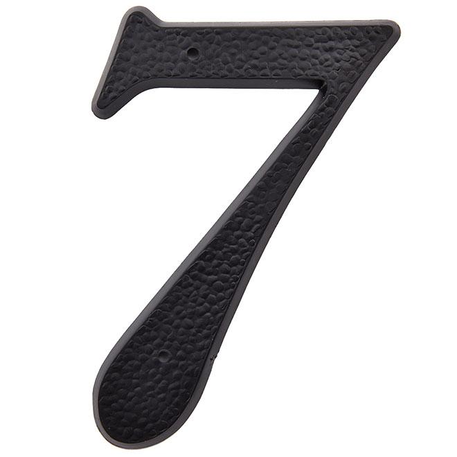 """Chifffre en plastique, #7, 5"""", noir"""