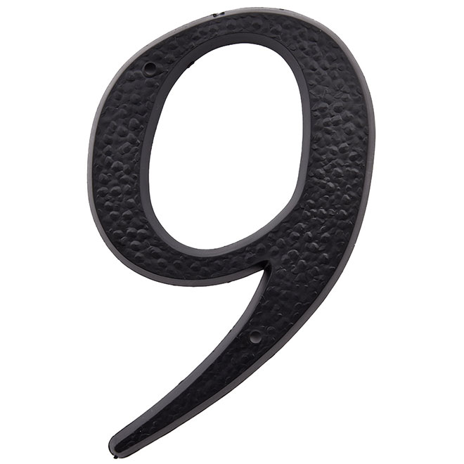 "Plastic Number - #9 - 5"" - Black"