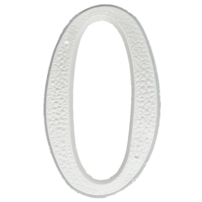 """Nail-On Plastic Number - #0 - 5"""" - White"""
