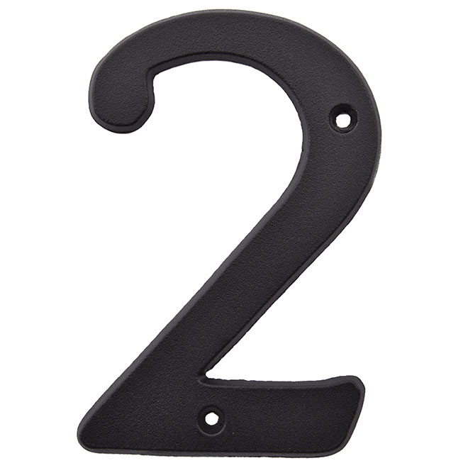 "Nail-On Metal Number - #2 - 3"" - Black"