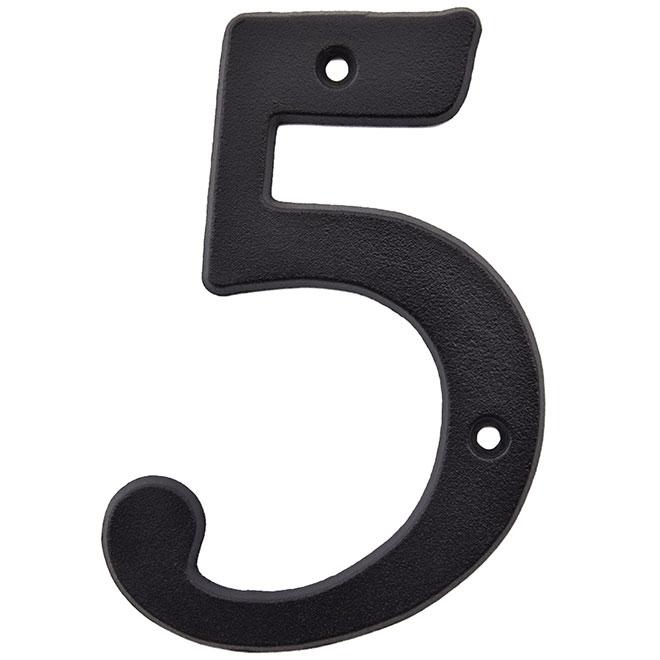 """Nail-On Metal Number - #5 - 3"""" - Black"""