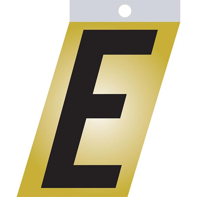 """Lettre autoadhésive en métal, E, 2"""", noir"""