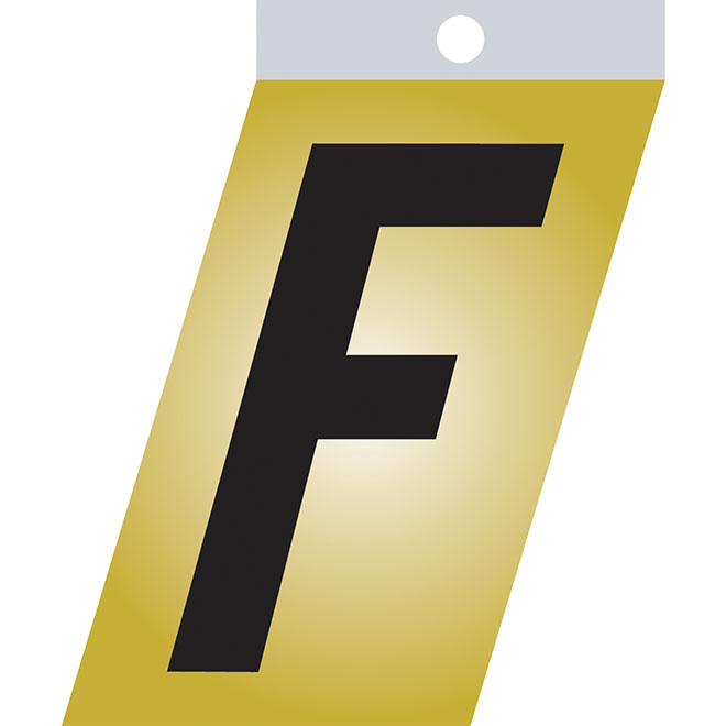 "Self-Adhesive Metal Letter - F - 2"" - Black"