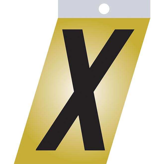 "Self-Adhesive Metal Letter - X - 2"" - Black"