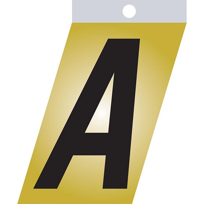 "Self-Adhesive Metal Letter - A - 3"" - Black"