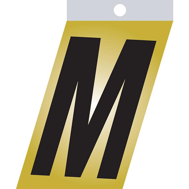 """Self-Adhesive Metal Letter - M - 3"""" - Black"""