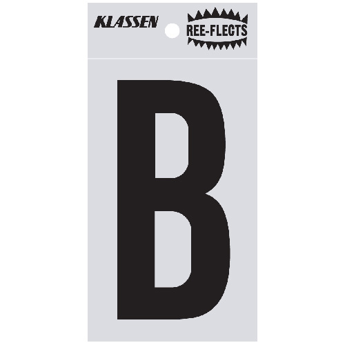 "Reflective Letter - B - 2"" - Black"