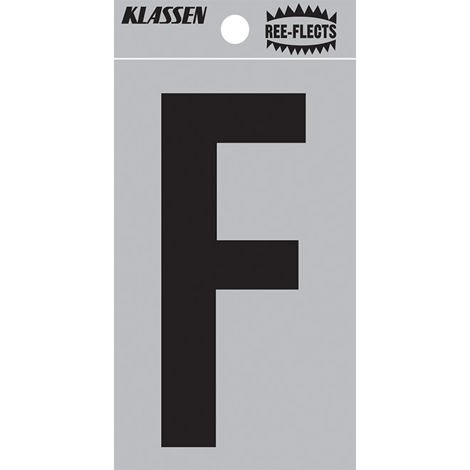"Reflective Letter - F - 2"" - Black"