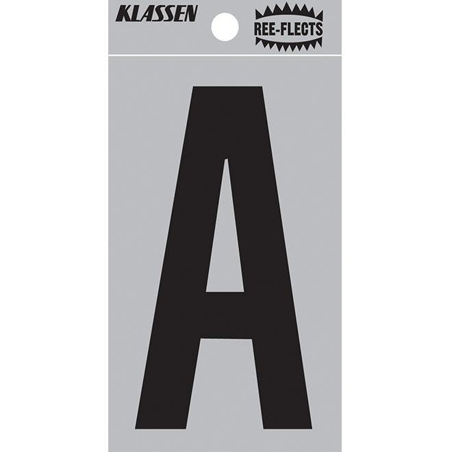 "Reflective Letter - A - 3"" - Black"