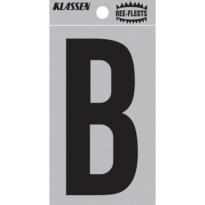 "Reflective Letter - B - 3"" - Black"