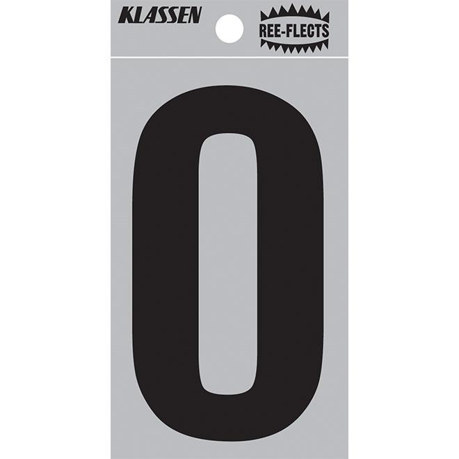 """Reflective Letter - O - 3"""" - Black"""