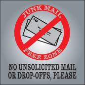 """No Junk Mail"" Aluminum Sign"