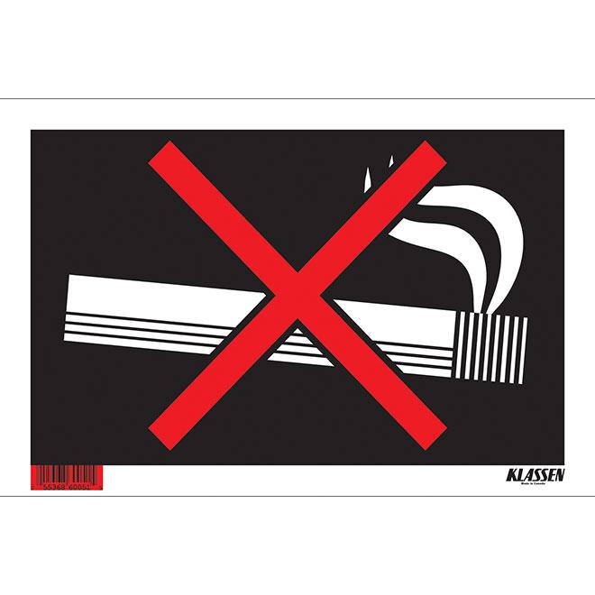 """""""No Smoking"""" Metal Sign - 2"""" x 8"""""""