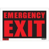 """Emergency Exit"" Sign - 8"" x 12"""