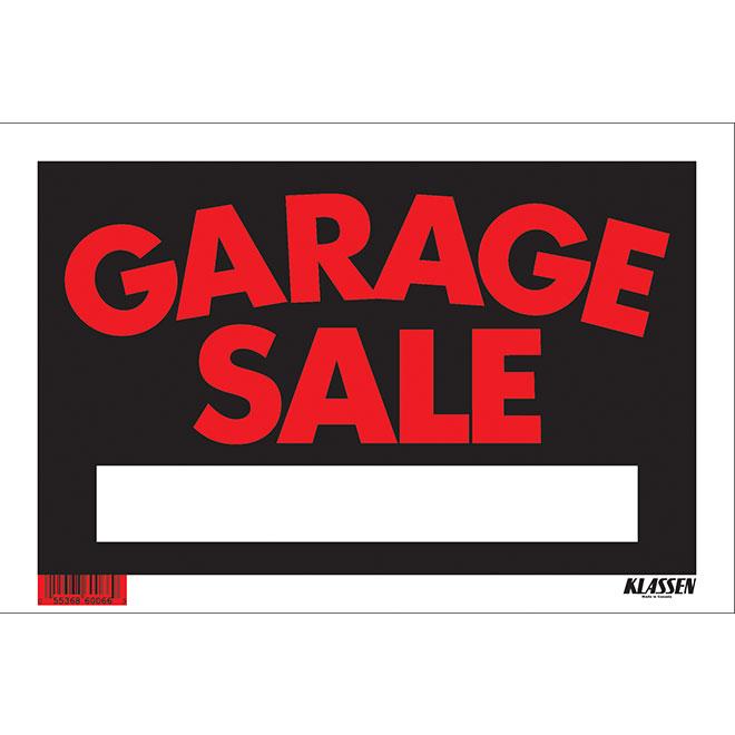 """Garage Sale"" Hi-Impact Sign"